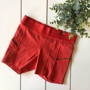 Lululemon Red Spandex Shorts Size 4